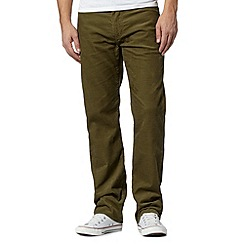 Levi's - 751&#8482 dark green cord trousers