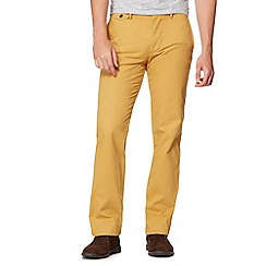 Dockers - Big and tall yellow slim fit trousers
