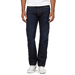 Levi's - Big and tall 501® blue lane dark blue raw wash straight leg jeans