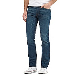 Levi's - 511&#8482 explorer vintage wash dark blue slim fit jeans