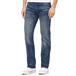 Levi's - Big and tall 501® stockholm blue mid wash straight leg jeans