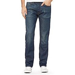 Levi's - 501® scuffed dark blue straight leg jeans