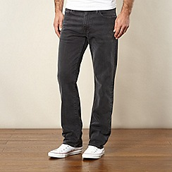 Levi's - 501® dark grey raw straight leg jeans