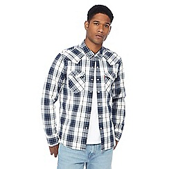 Levi's - Blue checked button down collar shirt