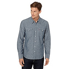Levi's - Blue chambray long sleeved shirt