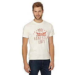 Levi's - White cotton two horse t-shirt