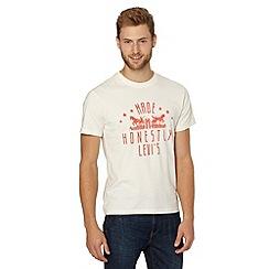 Levi's - White cotton two horse t-shirt