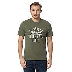 Levi's - Khaki two horse logo t-shirt