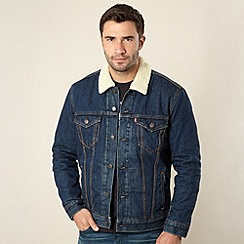 Levi's - Dark blue fleece lined denim jacket