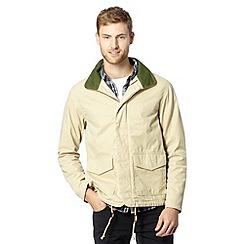Levi's - Beige zip concealed hood jacket
