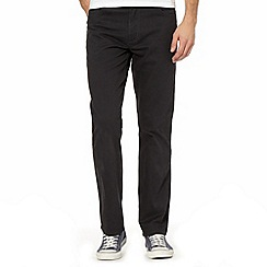 Wrangler - Texas stretch twill grey straight leg jeans