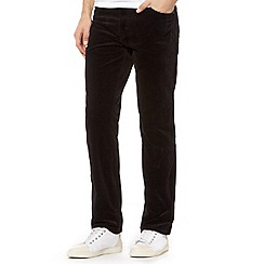 Wrangler - Black Texas straight leg stretch cord trousers