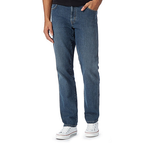 Wrangler - Texas wonder blue mid wash straight leg jeans
