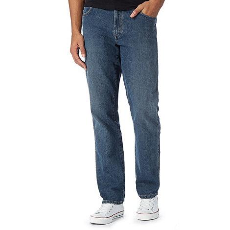 Wrangler - Texas wonder blue mid wash straight leg jeans