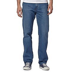 Wrangler - Texas stretch savage blue mid wash straight leg jeans