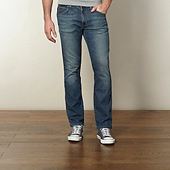 Wrangler - Arizona vintage wash blue straight leg jeans