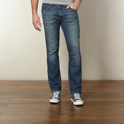Wrangler - Arizona vintage wash blue straight leg jeans