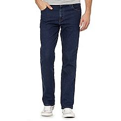 Wrangler - Texas mid stone wash blue straight leg jeans