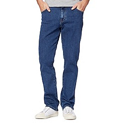 Wrangler - Texas light stone blue raw straight leg jeans