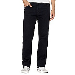 Wrangler - Texas blue black straight leg jeans