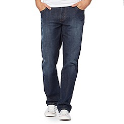 Wrangler - Texas used tint mid wish blue straight leg jeans