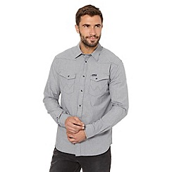 Wrangler - Dark grey mini gingham shirt