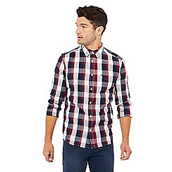 Wrangler - Red gingham check long sleeved shirt