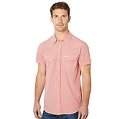 Wrangler - Red mini gingham checked shirt