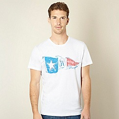 Wrangler - Big and tall white flag print t-shirt