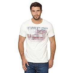 Wrangler - Off white faded flag logo t-shirt
