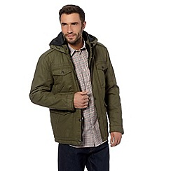 Wrangler - Big and tall khaki water resistant envy field jacket