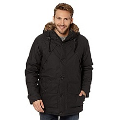 Wrangler - Big and tall black blizzard padded parka jacket
