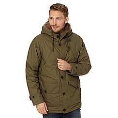 Wrangler - Big and tall khaki blizzard padded parka jacket