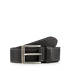 Wrangler - Big and tall black contrast stitched leather belt