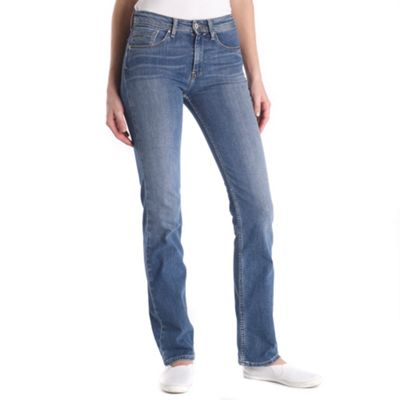 Blue high waist straight fit moonlight jeans