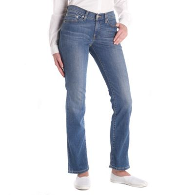 Blue straight fit moonlight jeans