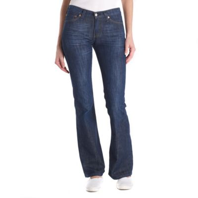 Blue bootcut vintage rinse jeans