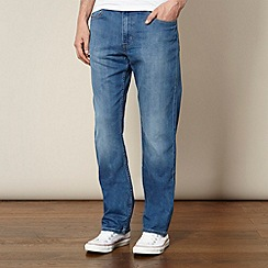Lee - Brooklyn dark blue straight leg mid wash jeans