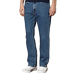 Lee - Brooklyn mid stonewash blue straight leg jeans