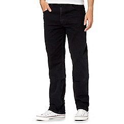 Lee - Brooklyn black zip fly raw jeans
