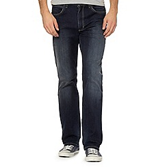 Lee - Brooklyn dark blue rinsed straight leg jeans