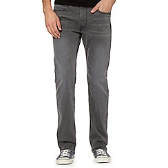 Lee - Blake grey raw straight leg jeans