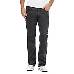Lee - Big and tall Brooklyn grey spark straight leg grey rinsed jeans
