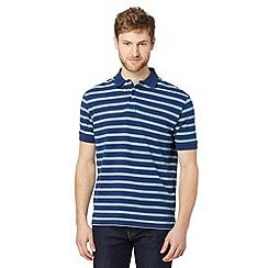 Dockers - Blue pique stripe polo shirt