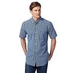 Dockers - Navy mid checked shirt