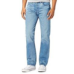 Levi's - 501® blue vintage wash straight leg jeans