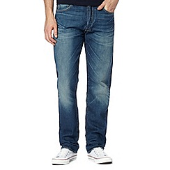 Levi's - Big and tall 501® blue vintage wash straight leg jeans