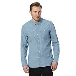 Levi's - Mid blue denim effect shirt