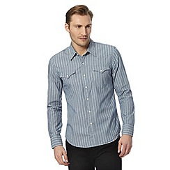 Levi's - Blue fine striped shirt