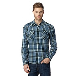 Levi's - Green checked slim fit shirt